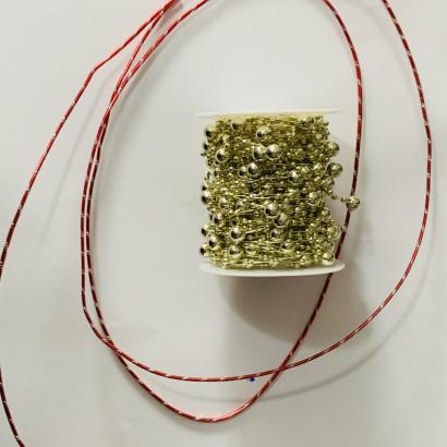 Voskové perly na drátu a dekorace